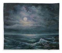 Moonlit  Fleece Blanket