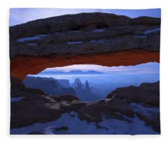 Moonlit Mesa Fleece Blanket