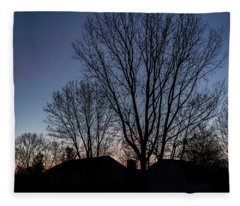 Moonlit Sunrise Fleece Blanket