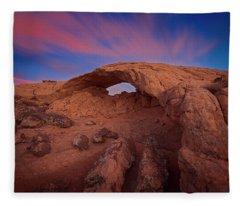 Moonrise Arch Fleece Blanket