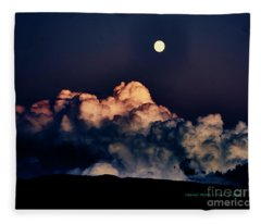 Moonrise In Taos Fleece Blanket