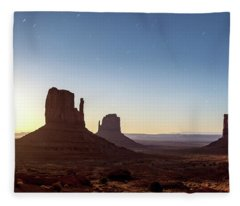Moonrise Over Monument Valley Fleece Blanket