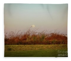 Moonscape Evening Shades Fleece Blanket
