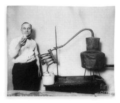 Moonshine Distillery, 1920s Fleece Blanket