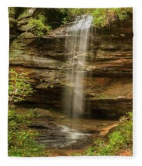 Moore Cove Falls Fleece Blanket