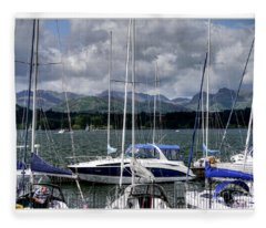 Moored In Beauty Fleece Blanket