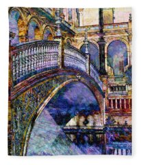 Moorish Bridge Fleece Blanket