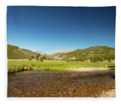 Moraine Trout Stream Fleece Blanket