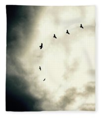 Big Sky Crows Fleece Blanket