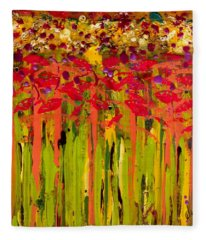 More Flowers In The Field Fleece Blanket