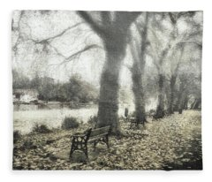 More Than A Bit Arty Fleece Blanket