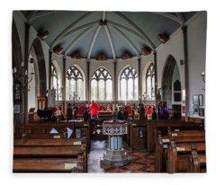 Moreton Church Dorset  Fleece Blanket