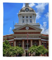 Morgan County Court House Fleece Blanket