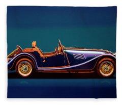 Morgan Roadster 2004 Painting Fleece Blanket