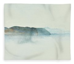 Morgondis Over Kusten - Morning Haze Over The Swedish Westcoast, Hunnebo_1211 Up To 70 X 70 Cm Fleece Blanket
