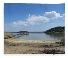 Aspvik On Morko Island Fleece Blanket
