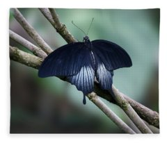 Great Mormon Butterfly Fleece Blanket