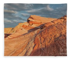 Morning Arrives - Valley Of Fire, Nevada Fleece Blanket