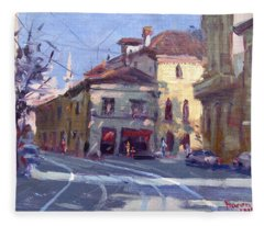 Morning At Padua Italy Fleece Blanket