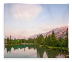Morning At The Lake Fleece Blanket