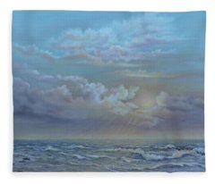 Morning At The Ocean Fleece Blanket