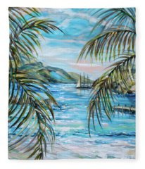 Morning At Turtle Bay Fleece Blanket