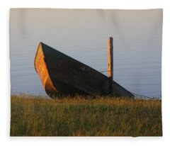 Morning Boat Fleece Blanket