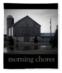 Morning Chores Fleece Blanket
