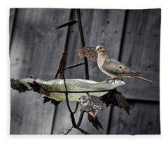 Morning Dove Fleece Blanket