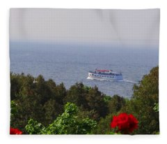Morning Ferry To Mackinac Island Fleece Blanket