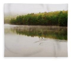 Morning Fog Fleece Blanket