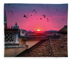 Morning In Venice  Fleece Blanket