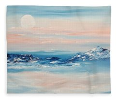 Morning Full Moon Fleece Blanket