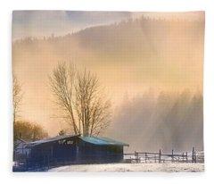 Morning Glory Fleece Blanket