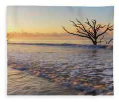 Morning Glow At Botany Bay Beach Fleece Blanket