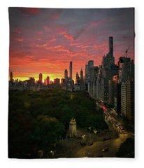 Morning In The City Fleece Blanket