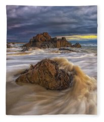 Morning Light At Marginal Way Fleece Blanket