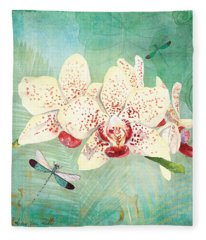 Morning Light - Dancing Dragonflies Fleece Blanket