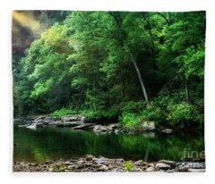 Morning Light On Williams River  Fleece Blanket