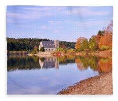 Morning Light Wachusett Reservoir Fleece Blanket