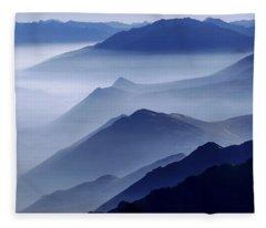 Morning Fog Fleece Blankets