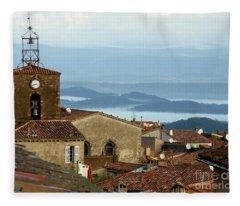 Morning Mist In Provence Fleece Blanket