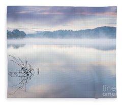 Morning Mist Loch Ard Fleece Blanket