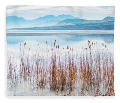 Morning Mist On The Lake Fleece Blanket