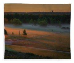 Morning Mist Over Dyarna #h7 Fleece Blanket