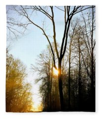 Morning Mood In The Forest Fleece Blanket