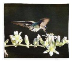 Morning Nectar Flyby  Fleece Blanket