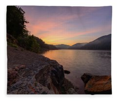 Morning On The Bay Fleece Blanket