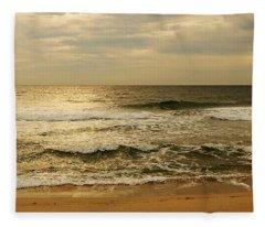 Morning On The Beach - Jersey Shore Fleece Blanket