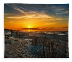 Morning On The Bogue Banks Fleece Blanket